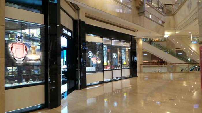 购物中心防水led透明屏